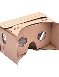 DIY Cardboard Virtual Reality 3D Glasses for iPhone 6 and Google Nexus 6 Samsung Mobile Phones