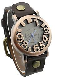 yuko Persönlichkeit Retro digital Bronzeband Uhr-Anzeigetafel