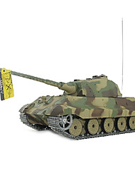 1/16 alemán tigre rey de humo y sonido rc tanque