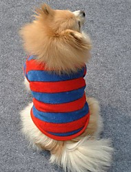 Cat / Dog Shirt / T-Shirt Red Winter Stripe Wedding / Cosplay
