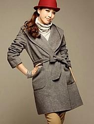 Women's Elegant Plus Sizes Woolen Coat(More Color)