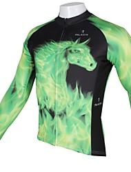PALADIN Radsport Oberteile Herrn Fahhrad Atmungsaktiv / UV-resistant / Rasche Trocknung Langärmelige 100% Polyester GrünS / M / L / XL /