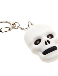 White Skeleton LED Light with Sound Effects Keychain