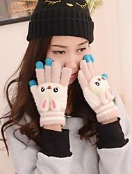 contact dessin animé plein écran doigts des gants chauds de femmes