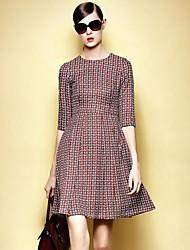 espectáculo delgada los vestidos de media manga de gran péndulo de la mujer