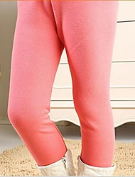 Girl's Leggings,Solid Cotton Blend Winter / Fall / Spring