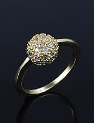 placcato in oro elegante con anello di uomini grandi zircone di (più colori)