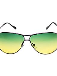 Óculos de Sol Homens's Retro / Vintage / Fashion / Aviador / Polarized Aviador Cinzento Escuro Óculos de Sol -Rim completa