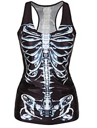 Black Skeleton Tank Top Dress Night Club Sexy Uniform