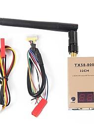 transmisor de video 5.8ghz FPV - simplicidad 800mw de 32 canales de alta tensión tx58-800 listo
