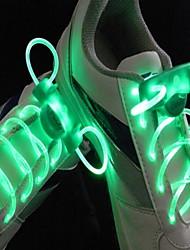 à long flash lumineux flash lent étanche Lacets LED verte (1 paire)