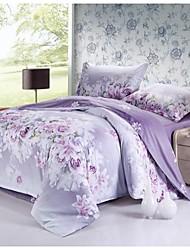 Manmer Duvet Cover Set 4 Piece 100 Cotton Active Printing Bedding 200 230Cm