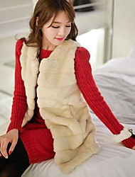 Women's Autumn And Winter Vest Fur Coat