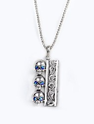 Men's Unique Design Zircon 18K Gold Plating Pendant  Necklace