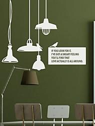 stickers muraux autocollants de mur, un lustre moderne pvc stickers muraux