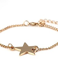 Star-Shaped Alloy Bracelet Gold(1Pc)
