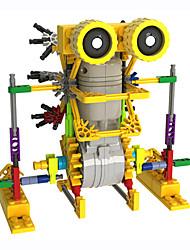 kleine Augen Roboter Spleißen Elektro Gebäude montiert Blöcke Spielzeug
