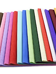 30pcs Pure Color Wrinkle Corrugated Packaging Paper Gift Wrap