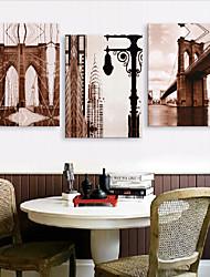 Stretched Canvas Art Landscape Great Bridge Set of 3
