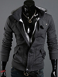 Anuosi Men's Fashion Casual Two Pieces Like  Cardigan Hoodie