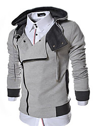 X-MAN Men's Cable Stayed Long Sleeve Coat With Hat