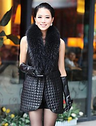 Women's Party/Cocktail Winter Sleeveless Faux Fur