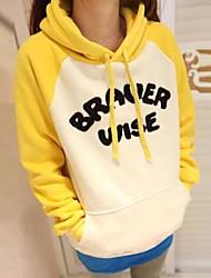 yiqi® Frauen Kapuzenpullover Fleece Mischungsfarbe Pullover