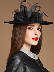 Gegorous Wool Female Outdoor/Casual/Special Occasion/Banquet Hat With Feathers&Yarn
