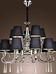 Vintage Chandelier, 15 Light, Classic Fabric Metal Painting