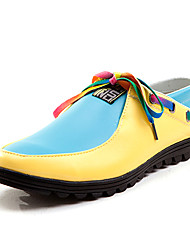 TPU Blue&Yellow Casual Boots
