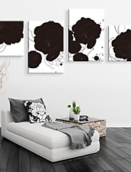Personalized Canvas Print Black Rose Framed Canvas Painting  Set of 4