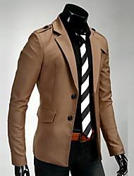 Men's Long Sleeve Regular Blazer , Others Pure