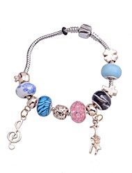 Lureme Bohemian Element Christmas  Multicolour Chamilia Bead Pendant Bracelet(Random color)