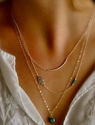 shixin® alliage joyau millésime, petit collier pendentif (de doré) (1 pc)