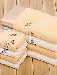 Christmas Gift Microfiber Embroider Bath Towel and Towel,Set of 3