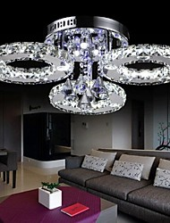 moderno levou montagem embutida 3 luz de cristal transparente 220-240v aço inoxidável