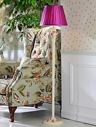 hoshine® pensée fleur luxe lampadaire 1 lumière style de jardin moderne de résine violette