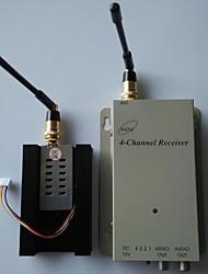 FPV 1,2 g 700MW 4 canaux audio vidéo sans fil récepteur tranmsitter