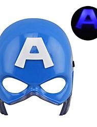 luminoso fresco llevó máscara capitán américa para halloween