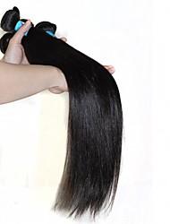 "Unprocessed Peruvian Virgin Human Hair Eextension 1B Natural Black Straigt 100g/pcs Soft Human Hair Weave 8""-30"""