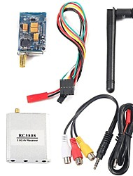FPV 5.8G 400mw Wireless 8 Channel AV Audio Video RC5808 Receiver + TS58400 Transmitter 5Pin