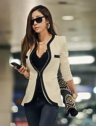 caliente&delgados blazers de color de contraste de viento de las mujeres outwear