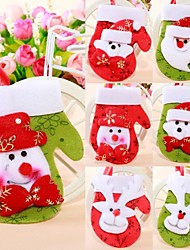 Christmas Tree Ornaments Small Gloves Style Random (Set of  4)