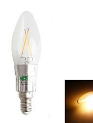 E14 Ampoules Bougies LED C35 2 180-200 lm Blanc Chaud Décorative AC 100-240 V