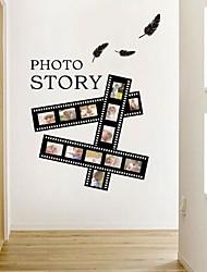 adesivos de parede decalques de parede, moderna a arte de filmes de cinema e televisão colar negro parede pvc adesivos