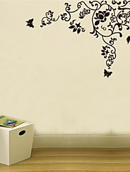 Wall Stickers Wall Decals, Flower Stripe Home Decor Mural Poster Wall Stickers