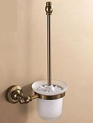 casa de banho de alumínio titular escova de vaso sanitário higiênico vintage bronze