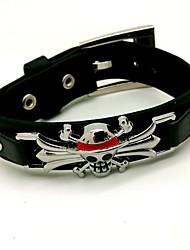un singe pièce · d · style punk luffy bracelet noir de cosplay pu