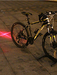 UNGROL Red Cross Design 1 Laser Module 6 LED 6 Flash Mode Black Bike Warning Laser Light