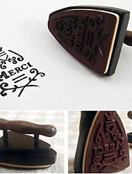 Vintage LOMO Iron Wood Stamp/DIY Funny Work/French Merci